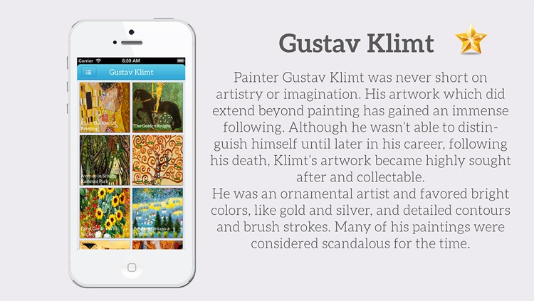Art Gallery HD - Van Gogh , Monet , Klimt , Renoir screenshot-3