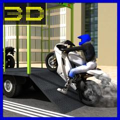 simulateur de moto 3D chauffeur de camion de transport de marchandises