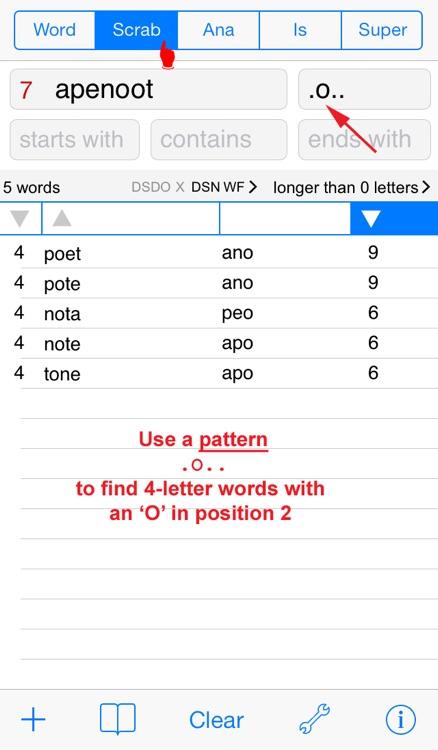 Words Finder PRO Dansk/Danish - find the best words for crossword, Wordfeud, Scrabble, cryptogram, anagram and spelling screenshot-3