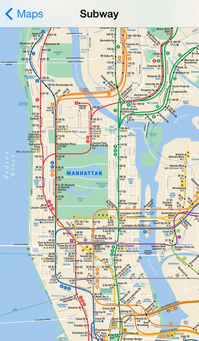Exit Strategy NYC Subway Map Screenshot