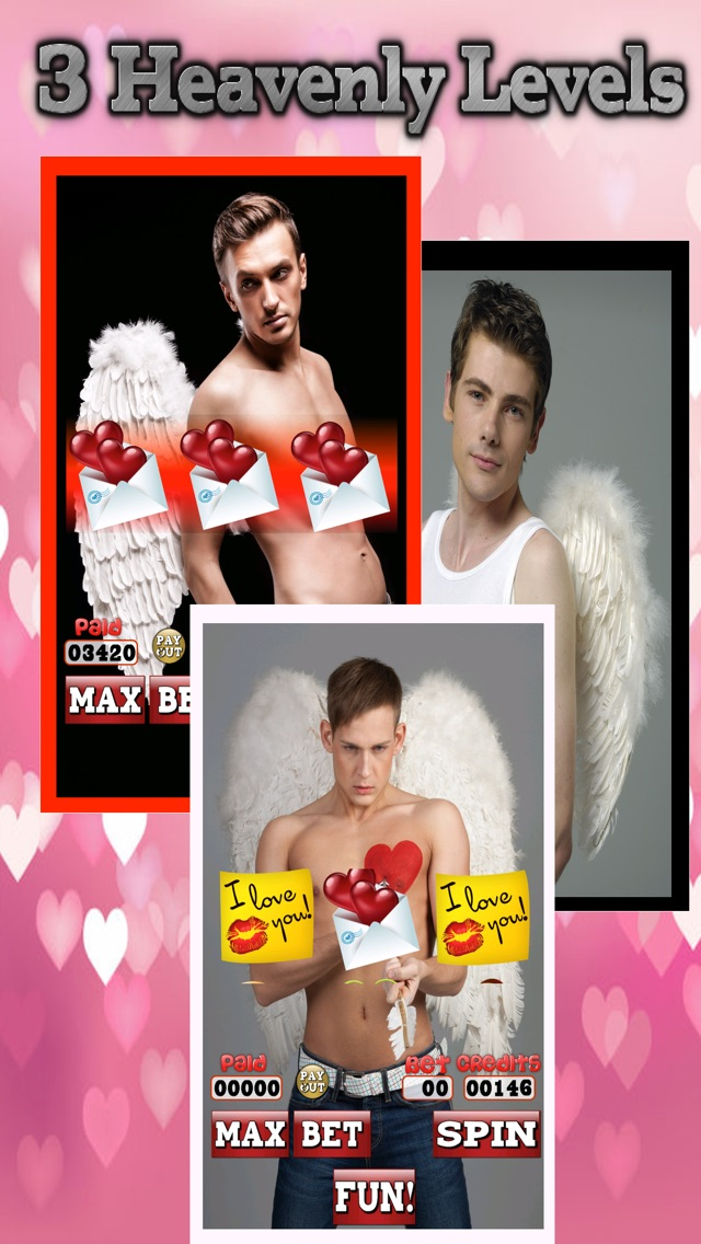 Amour Angel Slots: Sex-y Hot Guy Casino Games for Valentines Day 2014-1