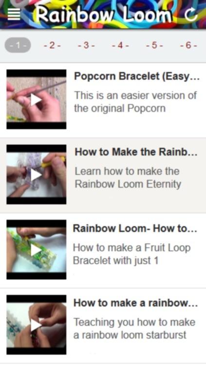 New Rainbow Loom: Step by Step Tutorial Videos screenshot-3