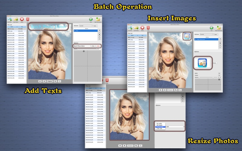 Batch Photo Editor - Watermark Resize and Effects Screenshot