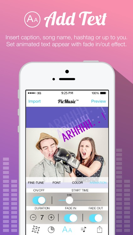 Pic Music for Instagram - Pic Play Music Musical on Picture with Text or Caption or Quote screenshot-3