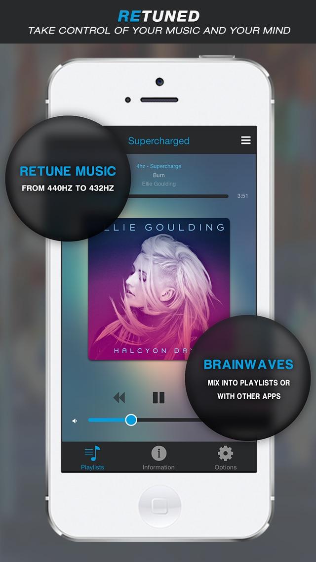 Retuned - Music tuner and binaural beat brainwave entrainment by Universal Tones Screenshot