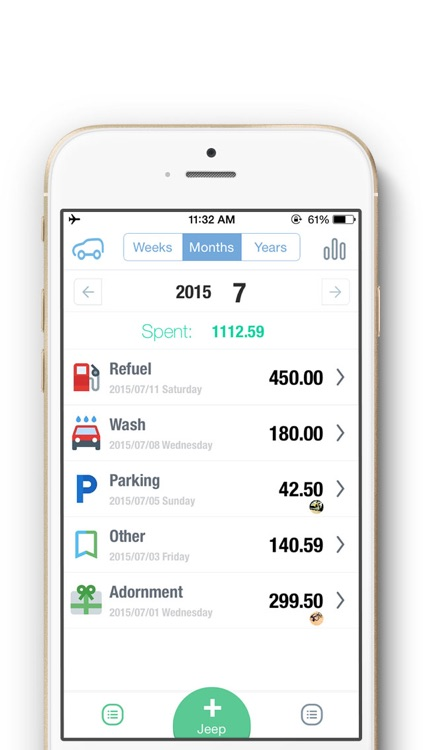 Daily Car Cost 2 - Mileage log tracker, Fuel economy, Gas mileage