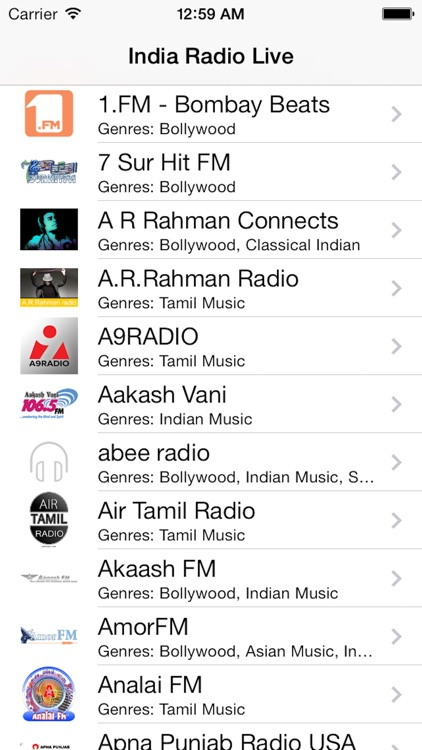 India Radio Live Player (Tamil / Hindi / Indian)