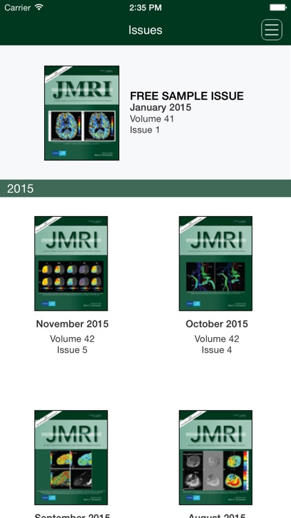 The Journal of Magnetic Resonance Imaging