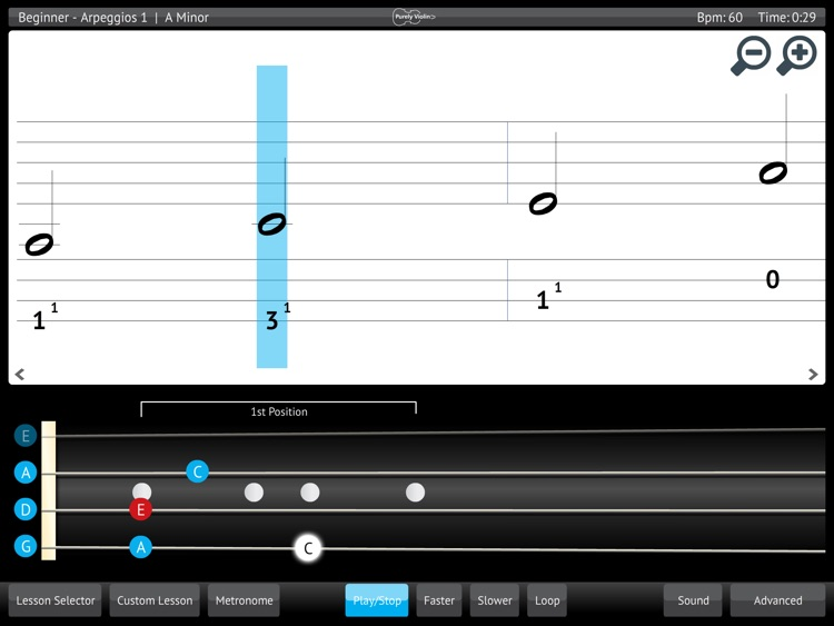 Learn Violin - Scales arpeggios melodic beginner exercises from Purely Violin screenshot-3