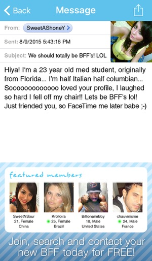Video Chat BFF Plus! - Social Text Messenger to Match Straight, Gay, Lesbian  Singles nearby for FaceTime, Skype, Kik & Snapchat calls on the App Store