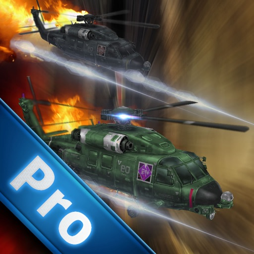Air Combat Helicopter 2 Pro - Green Helicopter In The Air Game