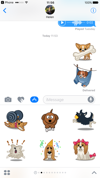 Dog Emoji Animated Sticker Pack for iMessageScreenshot of 1