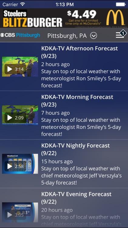 CBS Pittsburgh Weather screenshot-3
