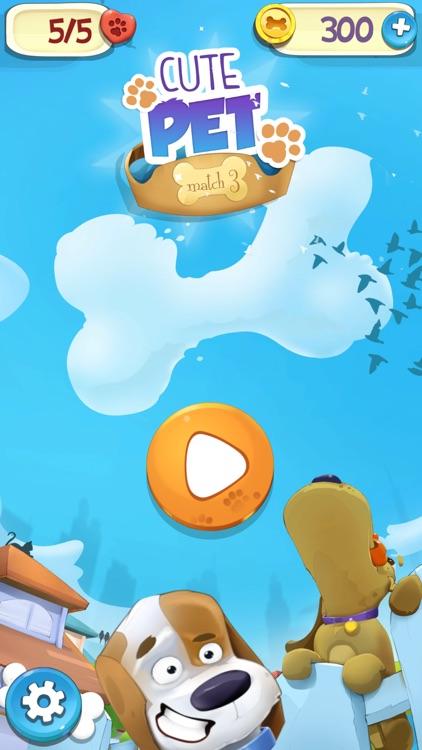 Cute Pet Match 3 Games Puzzle-Matching Jewels Saga screenshot-4