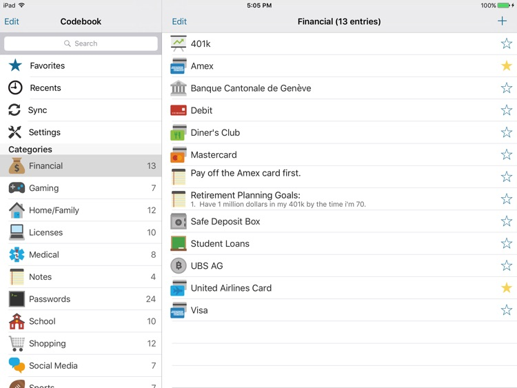 Codebook for iPad (Legacy)
