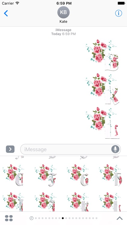 3D Flowers Stickers Pack For iMessage screenshot-4