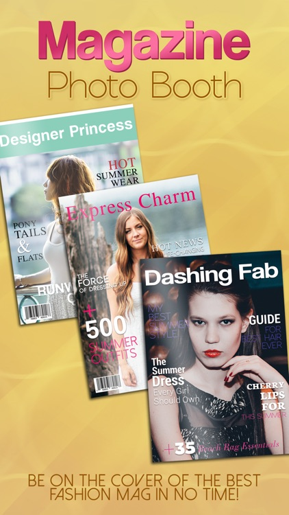 Magazine Photo Booth Front Page Maker - Put your Pics in