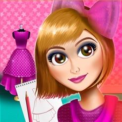 Jeux de styliste de robe de soiree