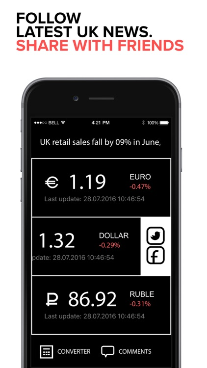 British Pound Sterling PRO: Foreign exchange rates & currency converter of British Pounds to Euros, US dollars and Russian Ruble. screenshot-3