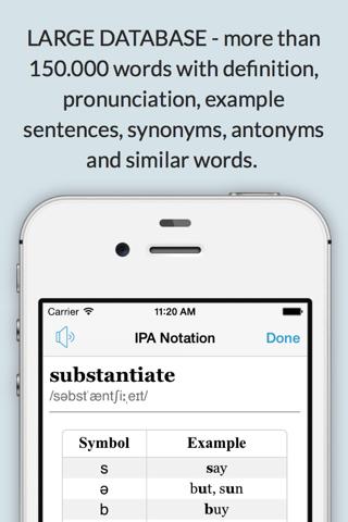 LexicEN English Offline Dictionary Thesaurus Lite screenshot 4