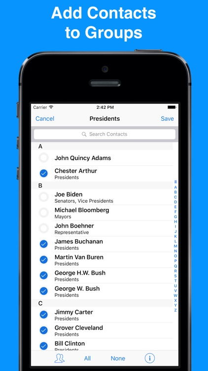 A2Z Contacts - Group Contacts screenshot-3