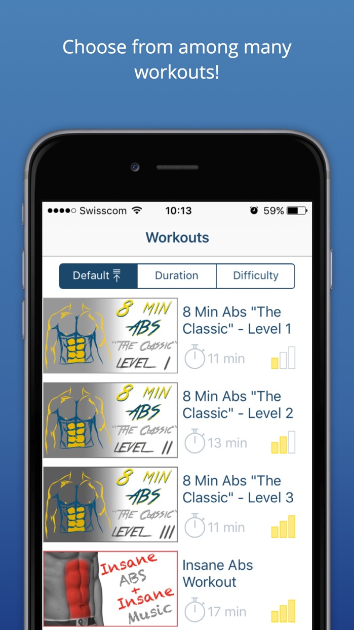 Abs Workout - Daily Fitness Routines for a Quick Six Pack Muscle Screenshot