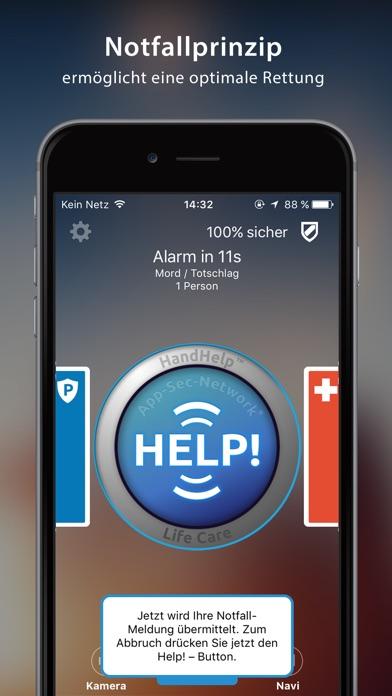 HandHelp-Life Care Notruf AppScreenshot von 2