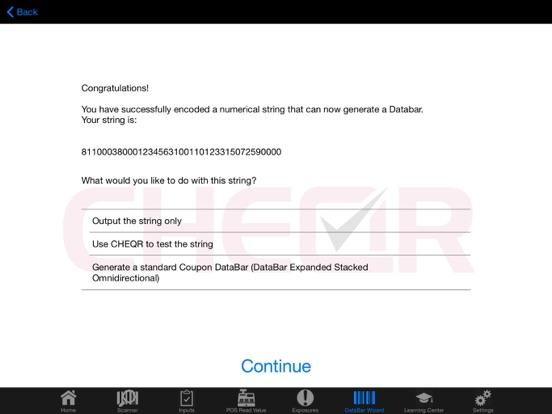 CHEQR PRO DataBar Tool screenshot two