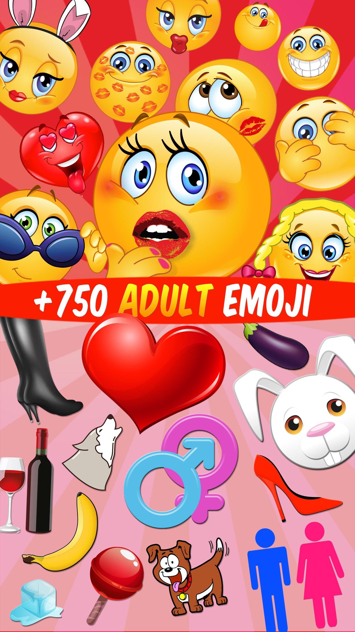 Adult Emoji, Flirty Icons and Sexy Text Screenshot