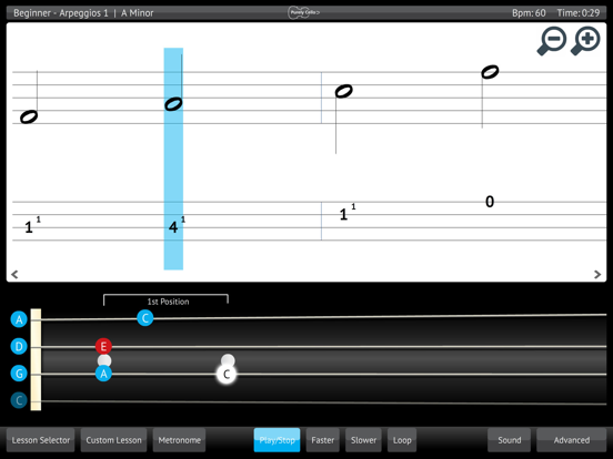 Learn & Practice Cello Music Lessons Exercises screenshot four