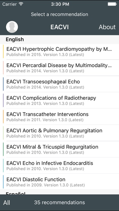 EACVI Recommendations