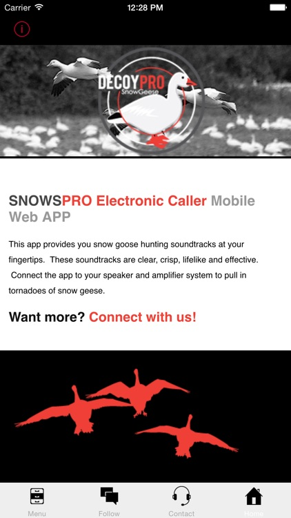 Snow Goose Call - E Caller - BLUETOOTH COMPATIBLE