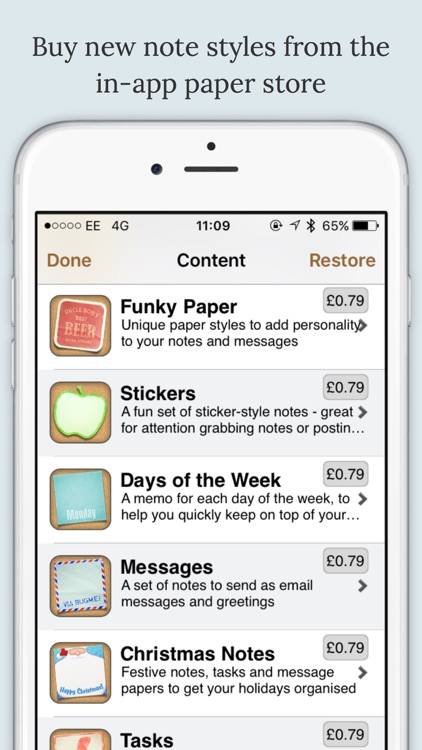 BugMe! Stickies - Ink Notepad with Alarms & Reminders screenshot-4
