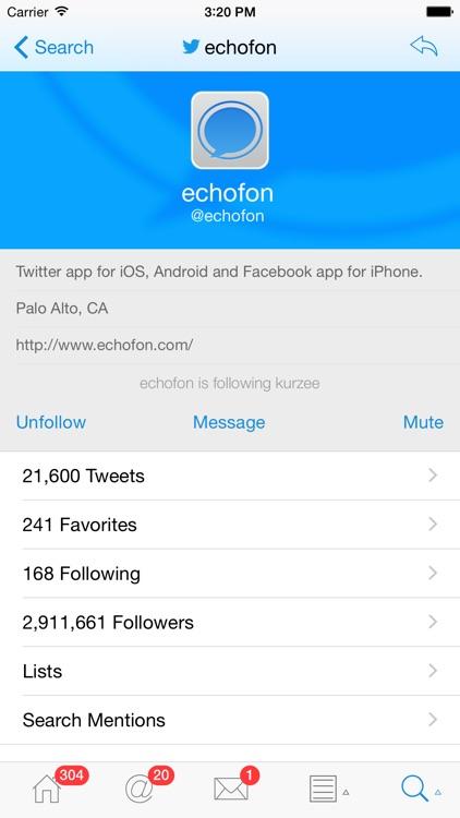 Echofon Pro for Twitter screenshot-3
