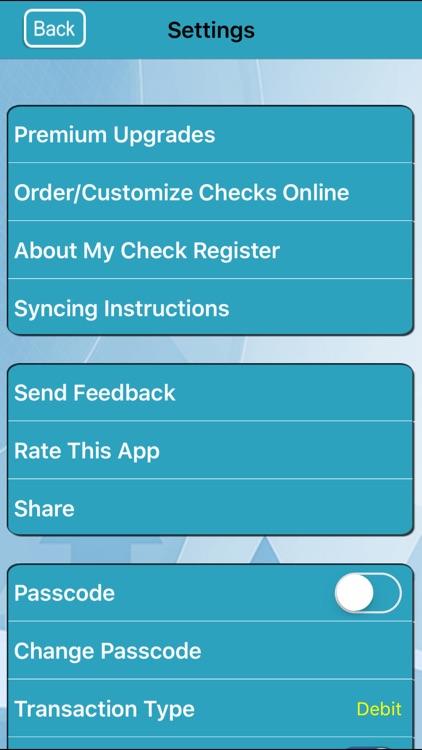 My Check Register screenshot-3