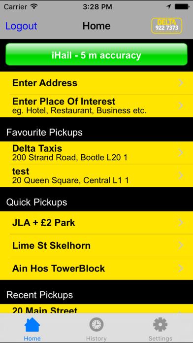 Delta Taxis screenshot one