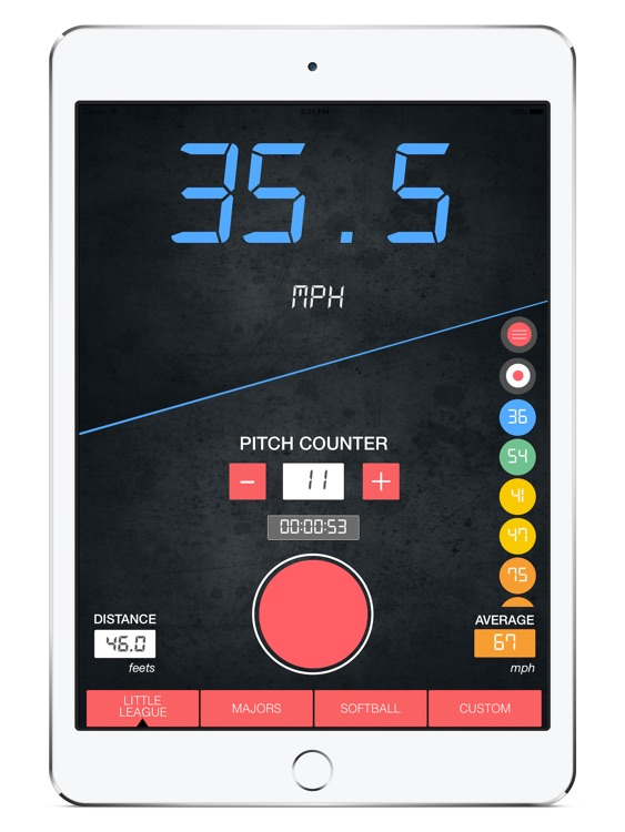 Baseball Speed Radar Gun HD screenshot-3
