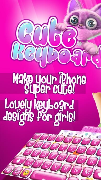 Cute Keyboard Design - Glitter Skins, Font & Emoji