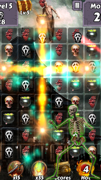 Zombie Mania Halloween World - Free puzzle games for trick or treat screenshot four