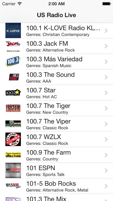 US Radio Live (United States of America USA) screenshot one