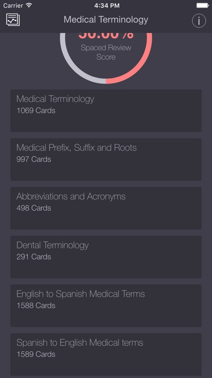 Medical & Dental Terminology/Abbreviations PRO Flashcards App screenshot-1