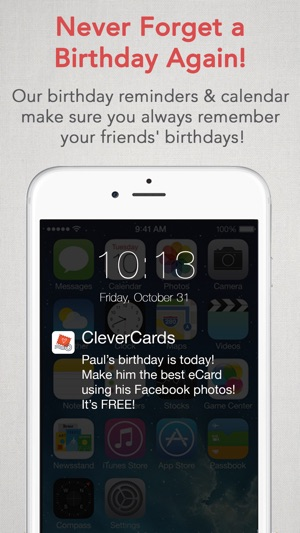 Clevercards greeting cards ecards for facebook on the app store m4hsunfo