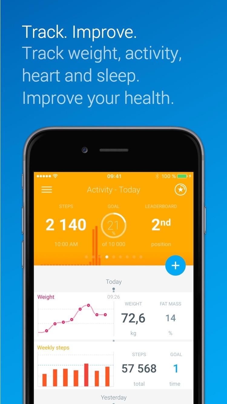 Health Mate - Steps tracker & Life coach