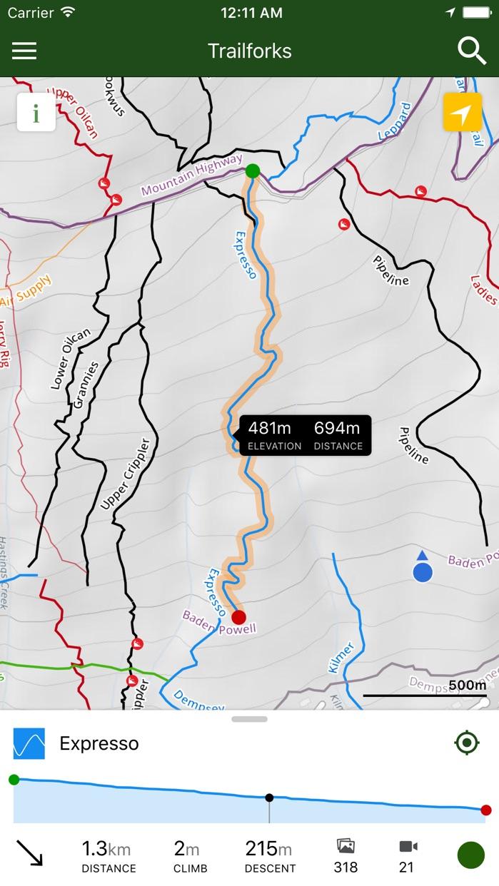 Trailforks - Mountain Bike Trail Map Screenshot