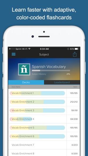 Spanish Vocab Genius Screenshot