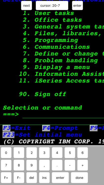 TN5250 screenshot-4