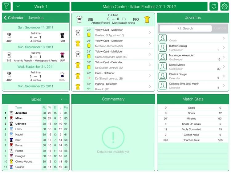 Italian Football Serie A 2011-2012 - Match Centre