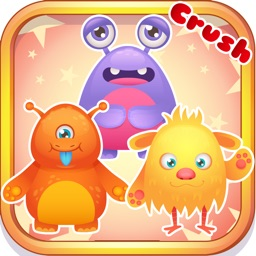 Cute Monster crush : - A high fun matching game of pretty monsters for free