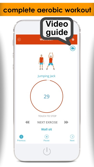 7 minute workout for aerobic exercise plus fitness guideのスクリーンショット2
