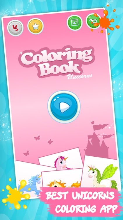 Unicorn coloring book for kids by rms games for kids Coloring book app